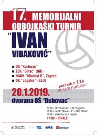 17. MEMORIJALNI TURNIR IVO VIDAKOVIĆ U KARLOVCU!